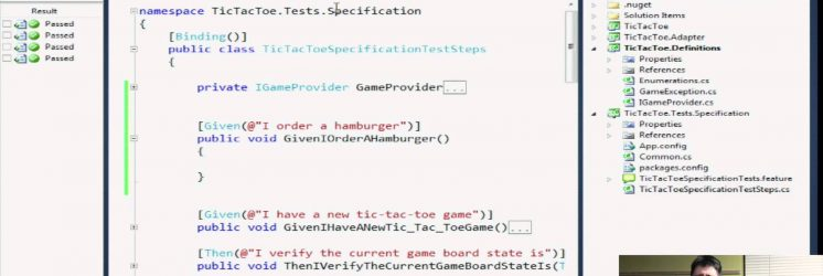 Acceptance Tests with SpecFlow