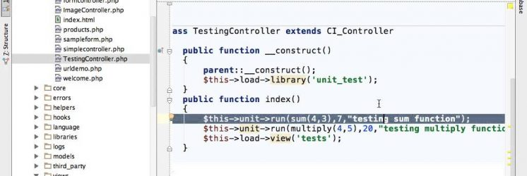 CodeIgniter Unit Testing