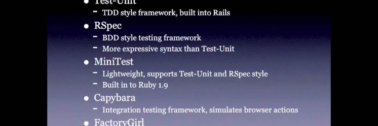Getting Started with Ruby on Rails Testing
