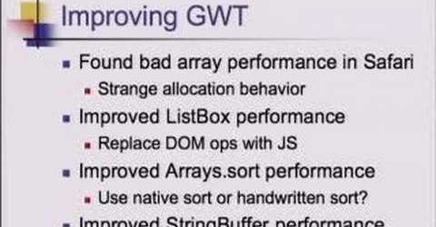 GWT – Unit Testing and Benchmarking