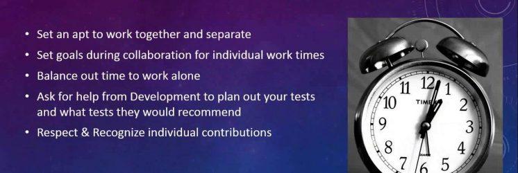 Mobile Tester and Developer Working Together