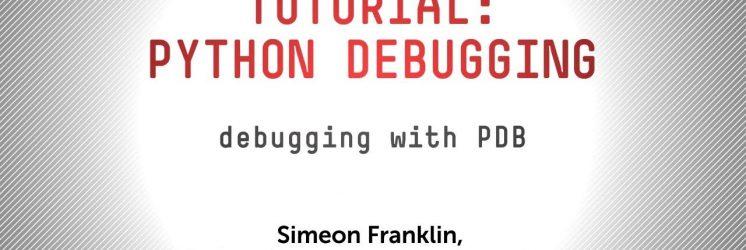 Python Debugging with pdb