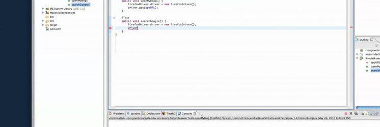 Selenium Automation Scripting