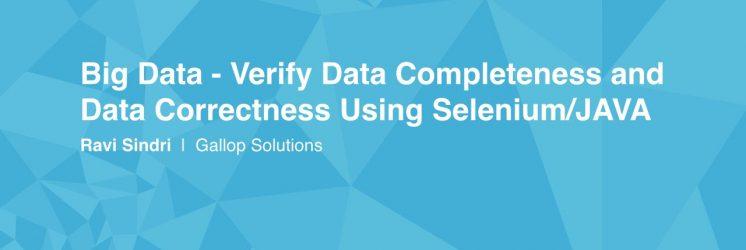 Verify Big Data with Selenium
